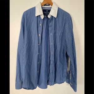 Men's American Eagle Button Up Shirt